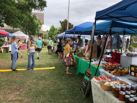 Come to the market early on Saturdays to get the best produce.